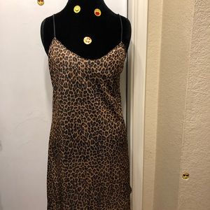 Simple Silky Leopard Night Gown!!!